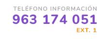 Teléfono de información 963 174 051